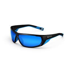 Sonnenbrille Wandern MH570 Erwachsene Kategorie 4 schwarz/blau
