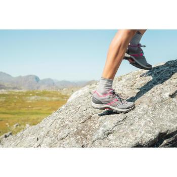 Bergwandelschoenen voor dames MH100 grijs roze