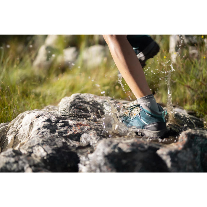 Waterdichte bergwandelschoenen voor dames MH100 mid turkoois