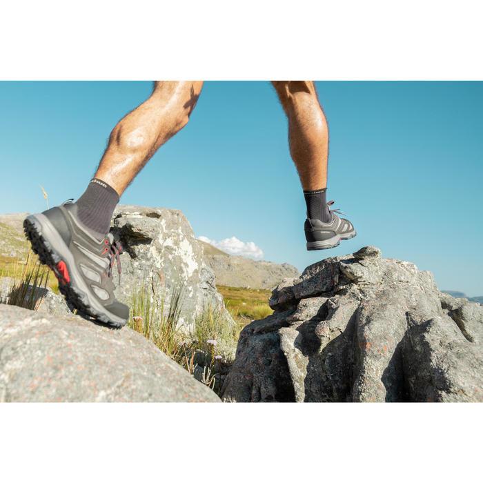 Men's waterproof mountain hiking shoes - MH100 - Grey
