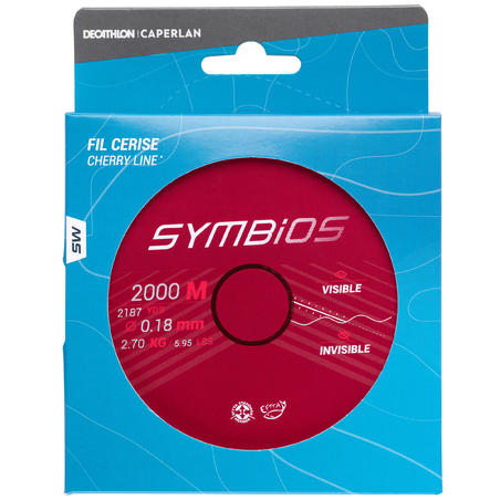 Fishing Symbios Surfcasting Line - Cherry