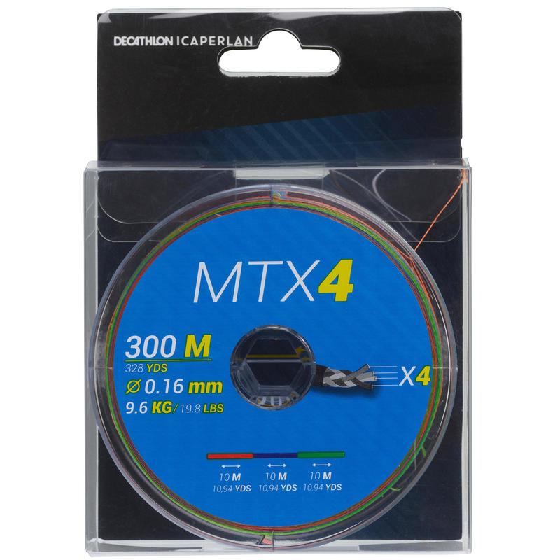 4-strand braid MTX4 MULTICOLOUR 300M Sea fishing
