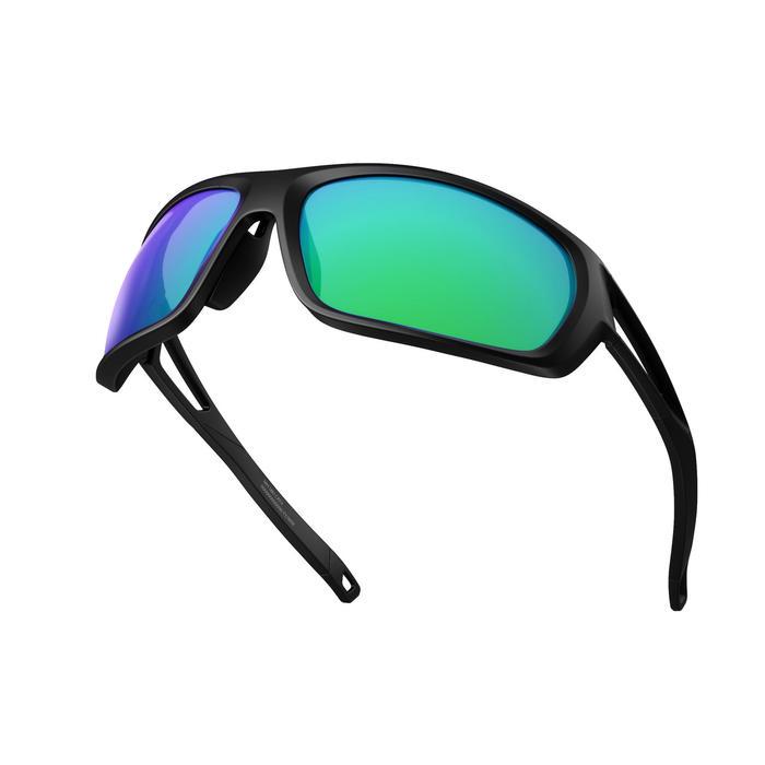 Wandelzonnebril voor volwassenen - MH580 - zwart/groen categorie 4