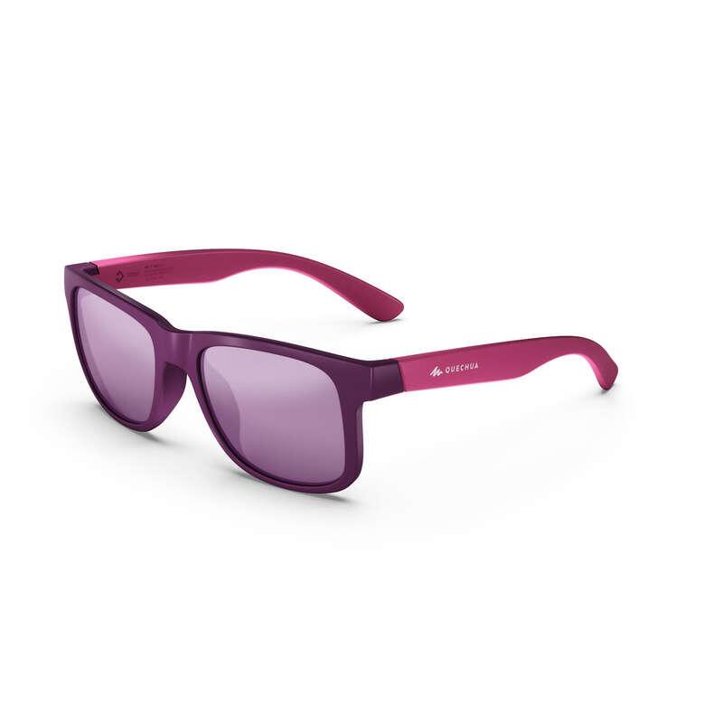 ÓCULOS/BINÓCULOS CAMINHADA CRIANÇA Óculos de Sol, Binóculos - MH T140 PURPLE CAT3 QUECHUA - Óculos de Sol Desportivos Adulto