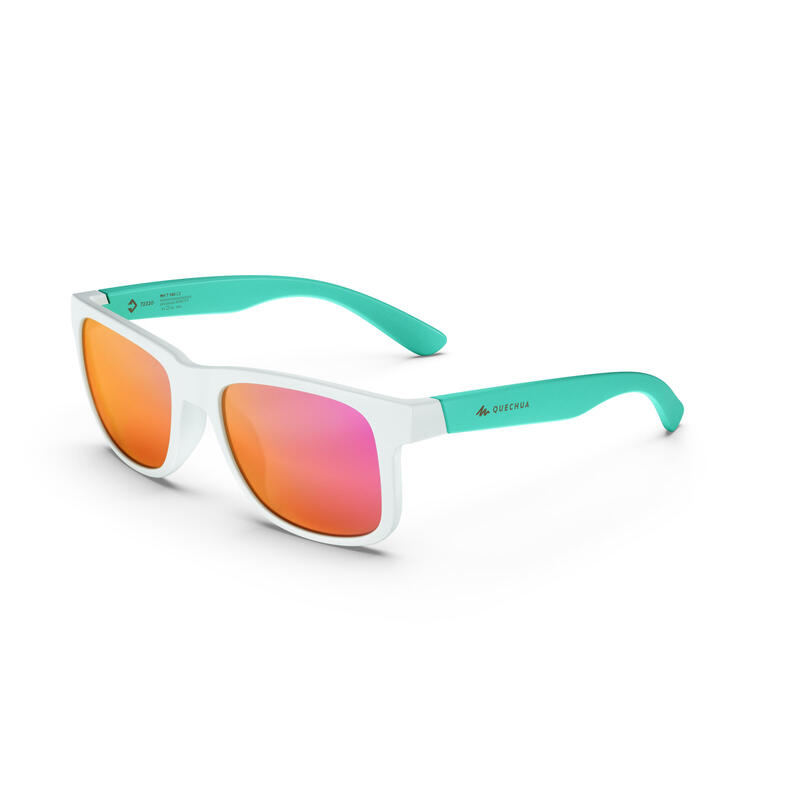 Ochelari de Soare Drumeție la munte Cat. 3 MH T140 Alb Copii de peste 10 ani