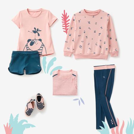 T-Shirt Senam Bayi Perempuan dan Laki-laki 500 - Pink