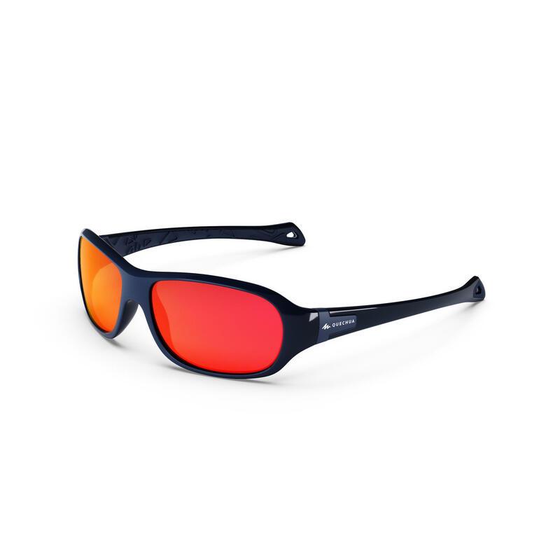 Ochelari de Soare Drumeție Cat. 4 MH T500 Albastru/ Portocaliu Copii 6-10 ani