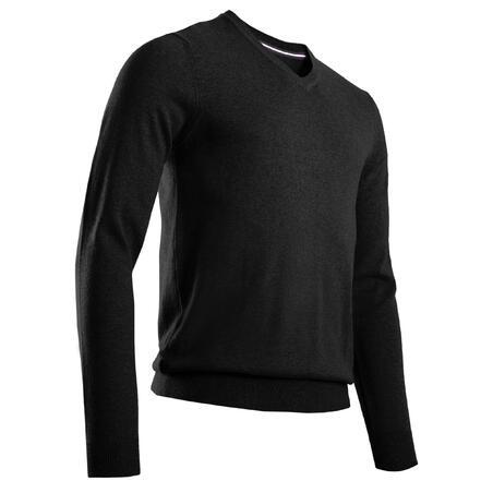 Men's Golf V-Neck Pullover - Black