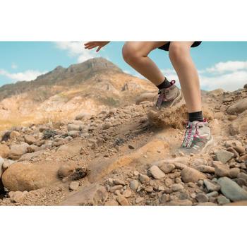 Waterdichte wandelschoenen voor kinderen Crossrock mid veters grijs