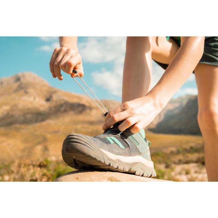 女童款低筒登山健行鞋Crossrock-藍色