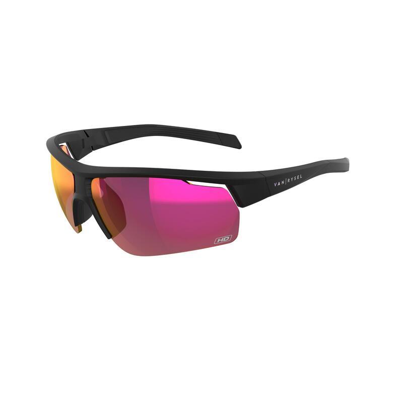 Cyklistické brýle ROADR 500 kategorie 3 HIGH DEFINITION černé