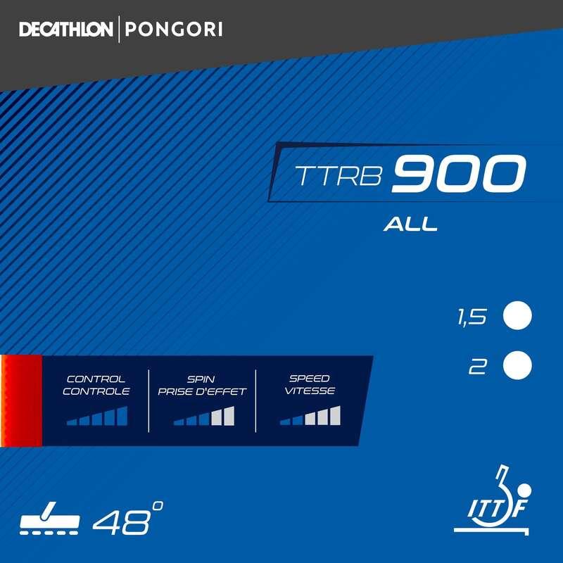 MADEIRAS E BORRACHAS DE PING PONG Material de Ping Pong - REVESTIMENTO PING PONG TTRB900 PONGORI - Material de Ping Pong