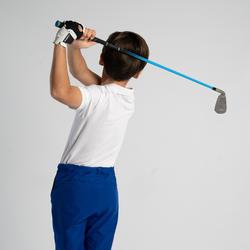 Golfpolo voor kinderen zacht weer wit