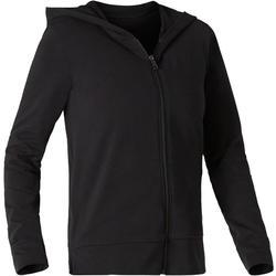 Veste à capuche zippée femme 100 noir
