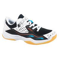 Kids' Handball Shoes with Rip-Tabs H100 - White/Black