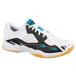 Chaussures de handball femme H100 blanc/noir