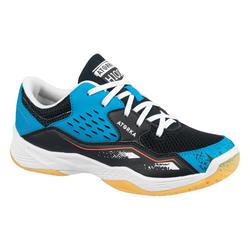 Handballschuhe H100 mit Schnürsenkeln Kinder blau/schwarz