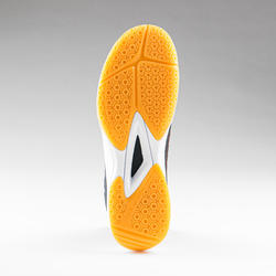Chaussures de handball homme H100 gris noir orange