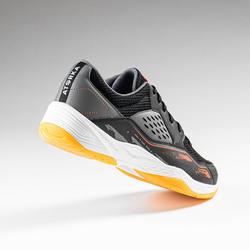 Handbalschoenen voor heren H100 grijs zwart oranje
