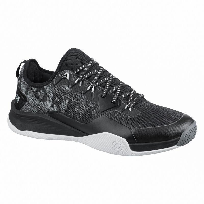 Handbalschoenen voor heren H100 faster zwart/grijs