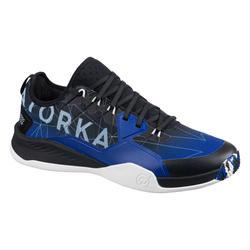 Handbalschoenen voor heren H100 faster blauw/zwart