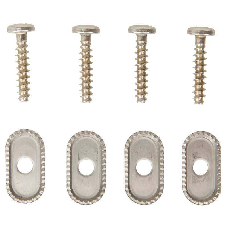 Kit 4 șuruburi și plăcuțe anti-torsiune FOOTSTRAPS WINDSURF