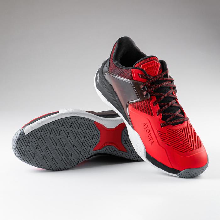 Chaussures de handball homme H900 STRONGER rouge noir