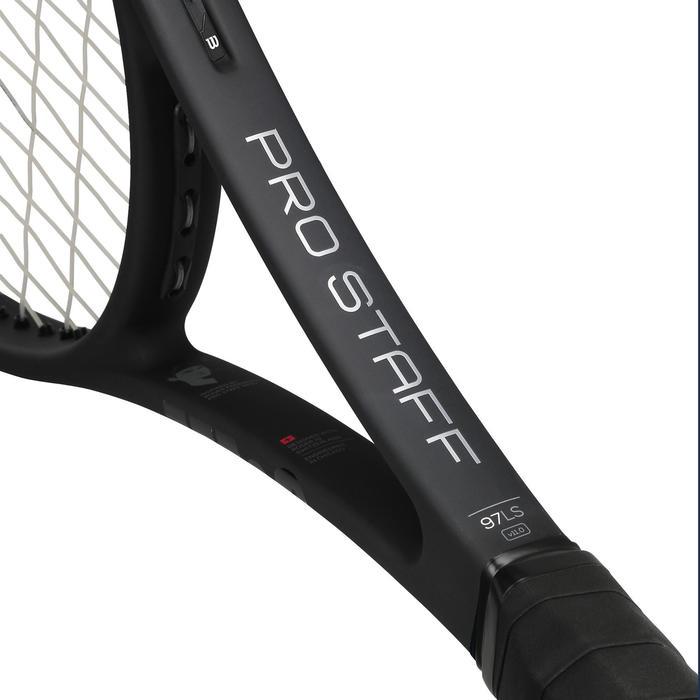 Tennisracket voor volwassenen Wilson Pro Staff 97LS zwart grijs
