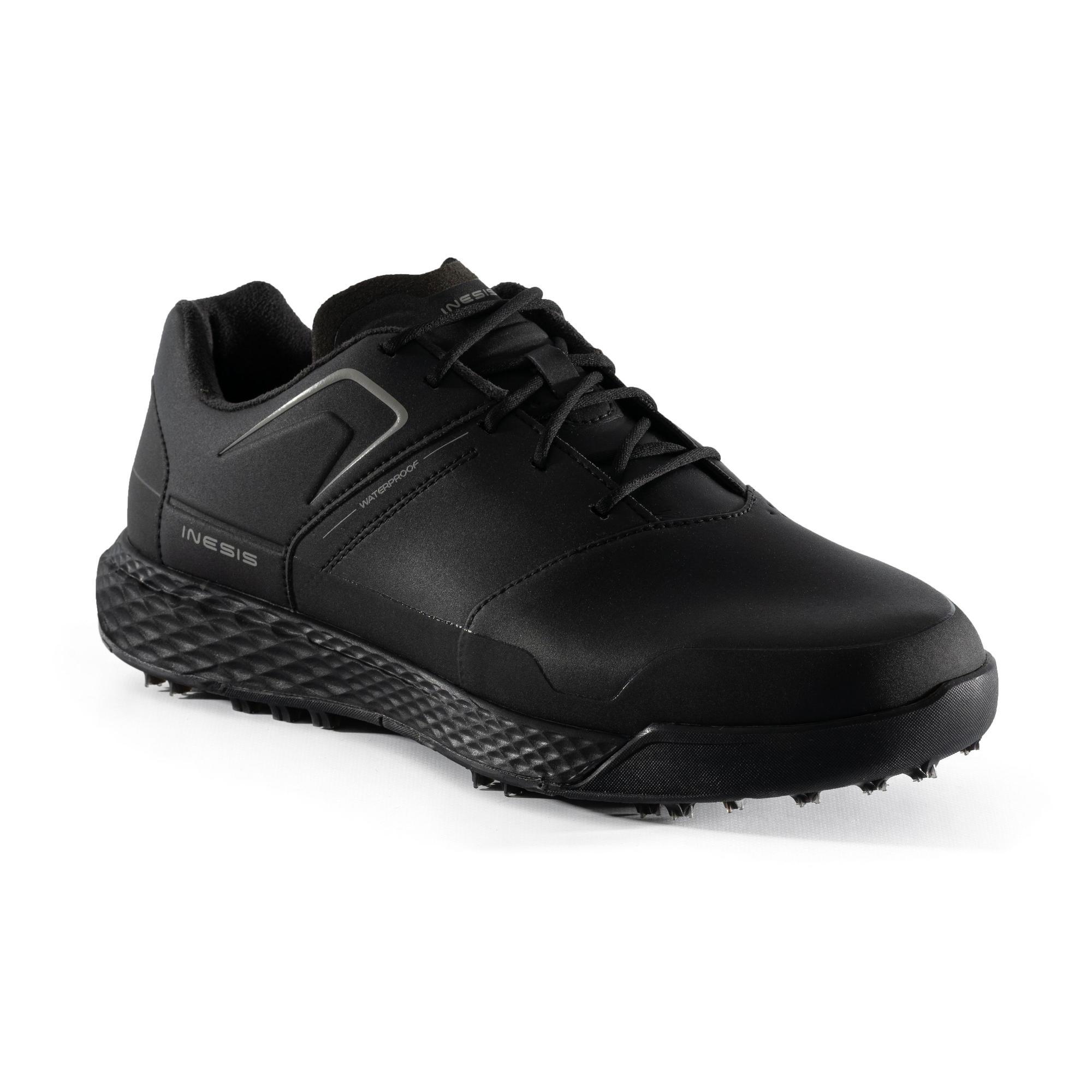 Men S Grip Waterproof Golf Shoes Black Inesis Golf