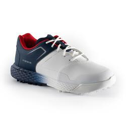 Waterdichte golfschoenen voor jongens Grip wit/blauw