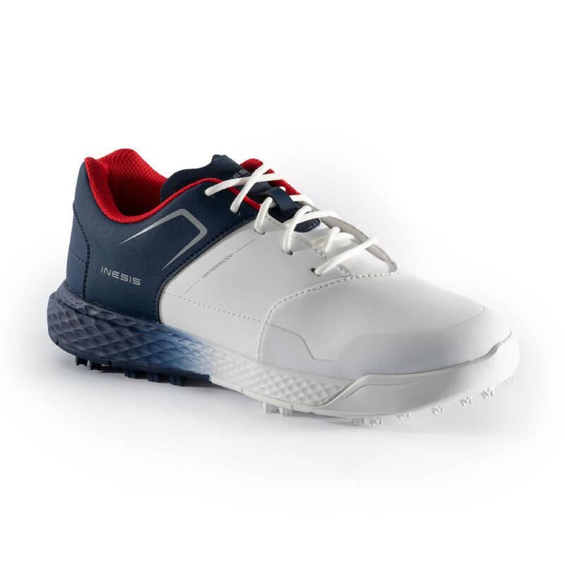 DĚTSKÉ GOLFOVÉ OBLEČENÍ A BOTY Golf - GOLFOVÉ BOTY BÍLO-MODRÉ INESIS - Golfová obuv
