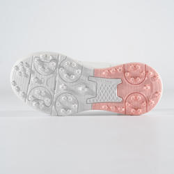 CHAUSSURES DE GOLF GRIP WATERPROOF FILLE BLANC/ROSE