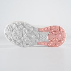 Golfschoenen voor meisjes grip waterproof wit/roze