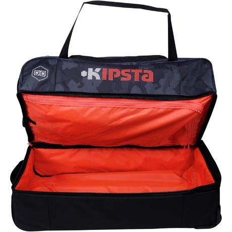 sac de sports collectifs roulettes hardcase 105 litres noir orange kipsta by decathlon. Black Bedroom Furniture Sets. Home Design Ideas