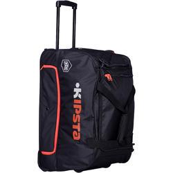 Trolley Sporttas Hardcase voor teamsport 70 liter zwart/oranje