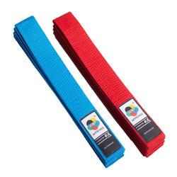 WKF karateband 2.8m blauw