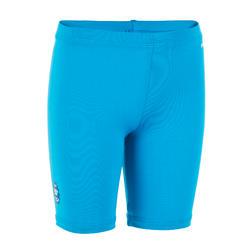 Korte bikinibroek voor peuters uv-werend blauw