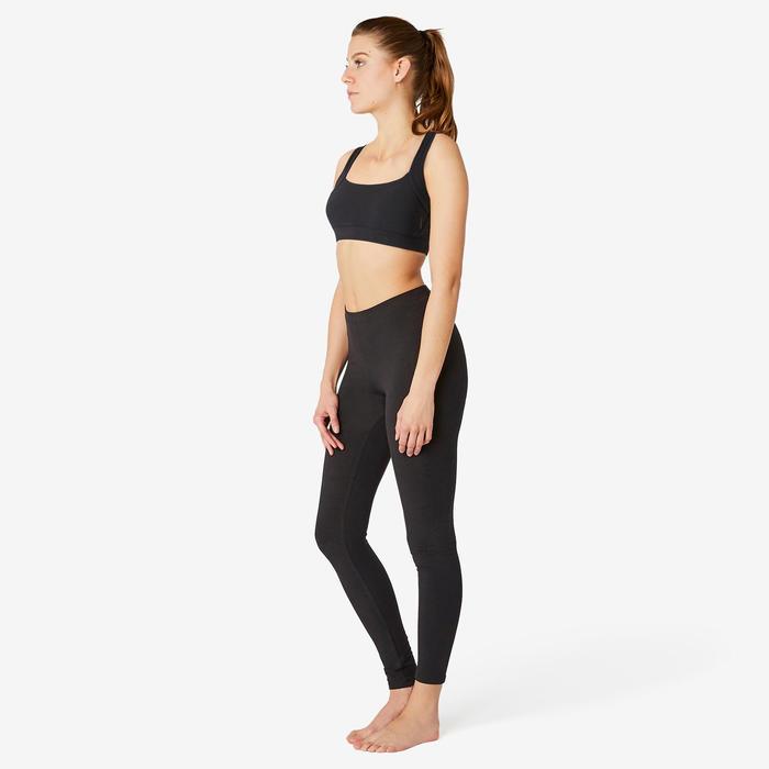 Brassière Coton Sport Pilates Gym Douce Femme Noir