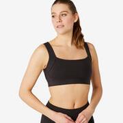 Women's Cotton Sports Bra - Black