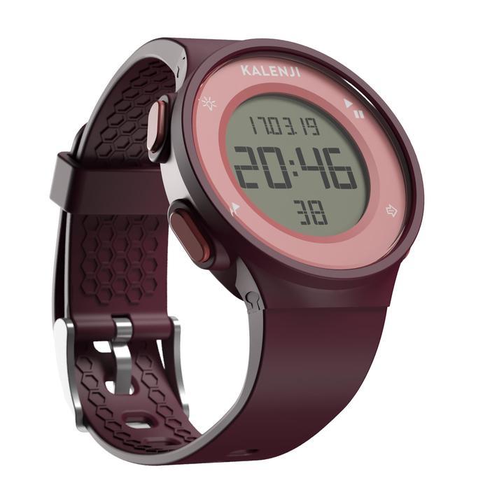 Hardloophorloge met stopwatch W500 M bordeaux