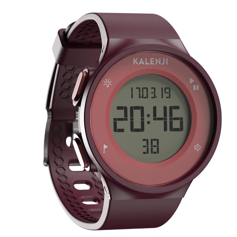 Kronometreli Koşu Saati - Bordo - W500