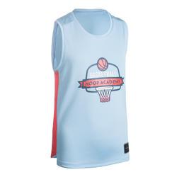 Basketbalshirt voor gevorderde jongens/meisjes T500 blauw/roze
