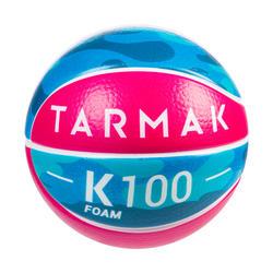 Minibola K100. Minibola Basquetebol em Espuma Criança até aos 4 Anos Tamanho 1.