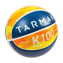 K100 Mousse. Mini ballon de basketball enfant en mousse taille 1. Jusqu'à 4 ans.
