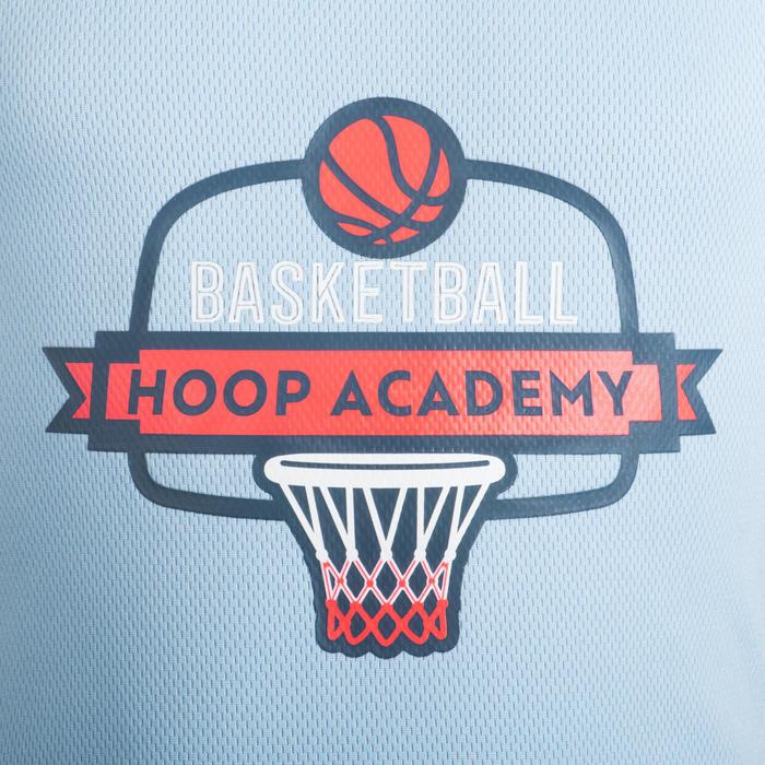 Basketbalshirt T500 blauw/roze (kinderen)