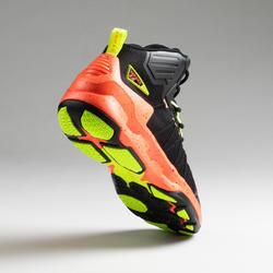 Basketbalschoenen voor heren Shield 500 zwart oranje