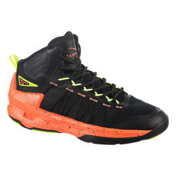 CHAUSSURE DE BASKETBALL HOMME SHIELD 500 NOIRE ORANGE