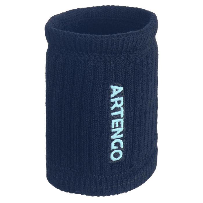 網球護腕TP 500 - 海軍藍/淺綠色