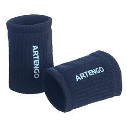 Zweetbandjes voor tennis TP 500 marineblauw/lichtgroen