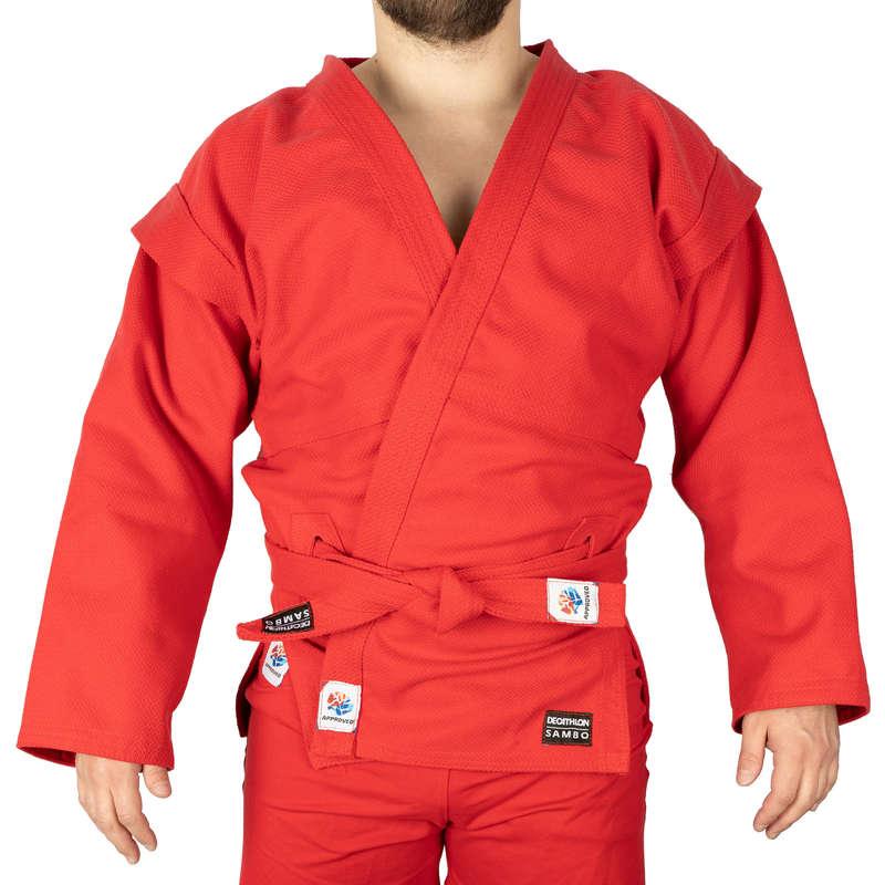 САМБО Боевые искусства - Куртка для самбо Взр. красная SAMBO - ПО ВИДАМ СПОРТА
